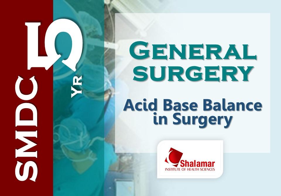 Acid Base Balance in Surgery-2021