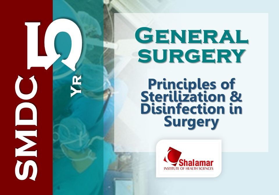 Sterilization & Disinfection in Surgery-2021