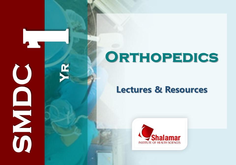 First Year Orthopaedics
